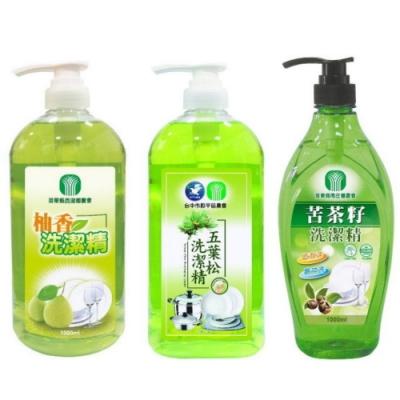 農會出品(五葉松+柚香+苦茶籽)碗盤洗潔精1000mlx15瓶特價!