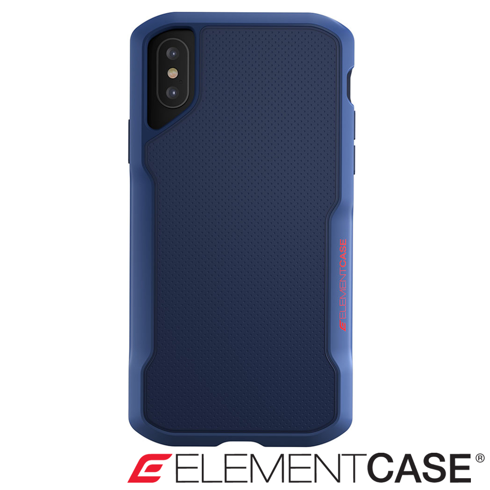 美國 Element Case iPhone XS Max Shadow防摔手機殼 - 藍
