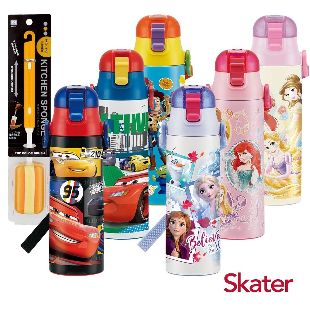 Skater不鏽鋼(580ml)直飲保溫水壺(送)清潔刷