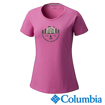 Columbia哥倫比亞 女款-快排短袖上衣-紫色 UAR11040PL