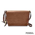 FOSSIL Maya 俐落簡約真皮可加大側背包 -咖啡色