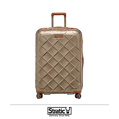 德國 Stratic 雙齒防盜防爆拉鍊行李箱 29吋 香檳色