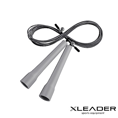 Leader X 專業競速 可調節訓練跳繩 灰色 - 急
