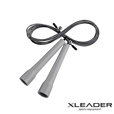 Leader X 專業競速 可調節訓練跳繩 灰色