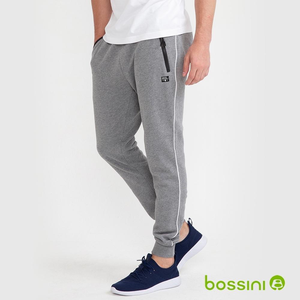 bossini男裝-運動束口長褲03麻灰