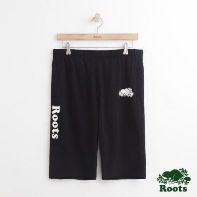 男裝Roots 經典棉質短褲-黑