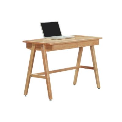柏蒂家居-伊丹3.3尺二抽書桌/工作桌-10x52x76cm