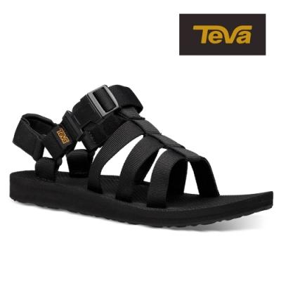 【TEVA】原廠貨 女 Original Dorado 角鬥士輕量快扣織帶涼鞋/雨鞋/水鞋(黑色-TV1106854BLK)