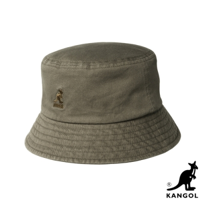 KANGOL-WASHED BUCKET 漁夫帽-棕色