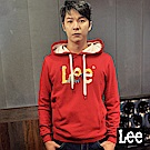 Lee 色塊LOGO印刷長袖連帽TEE恤/RG