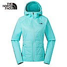 The North Face北面女款綠色無縫連帽外套|3L9AN2P