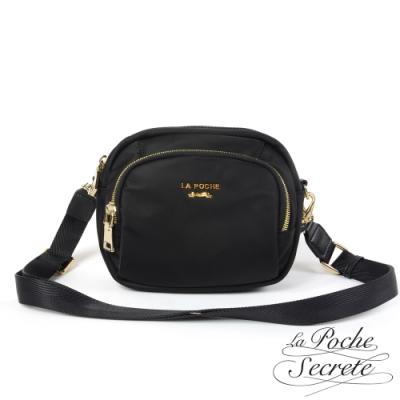 La Poche Secrete斜背包 輕盈時尚精巧隨身手提側斜背小包-百搭黑