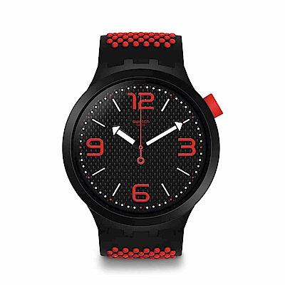 Swatch Big Bold 系列手錶 BBBLOOD 紅色 - 47mm