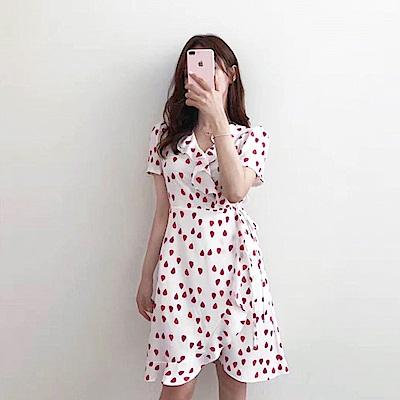 【AIRKOREA正韓空運】可愛心型連衣裙