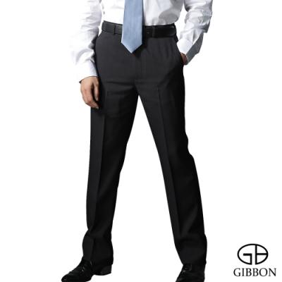 GIBBON 商務手感平口西裝褲-二色