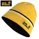 【Jack wolfskin 飛狼】LOGO條紋毛帽 雙面戴針織保暖帽『檸檬黃』 product thumbnail 1
