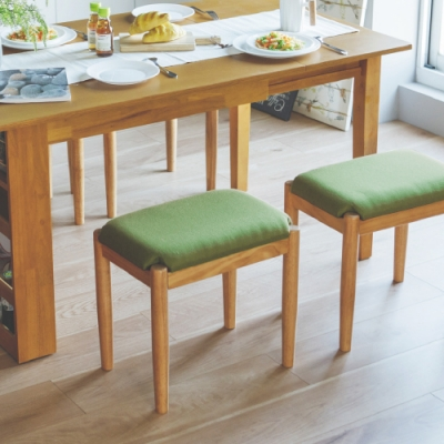 完美主義 無印長方款椅凳/餐椅/化妝椅-4入組(3色)