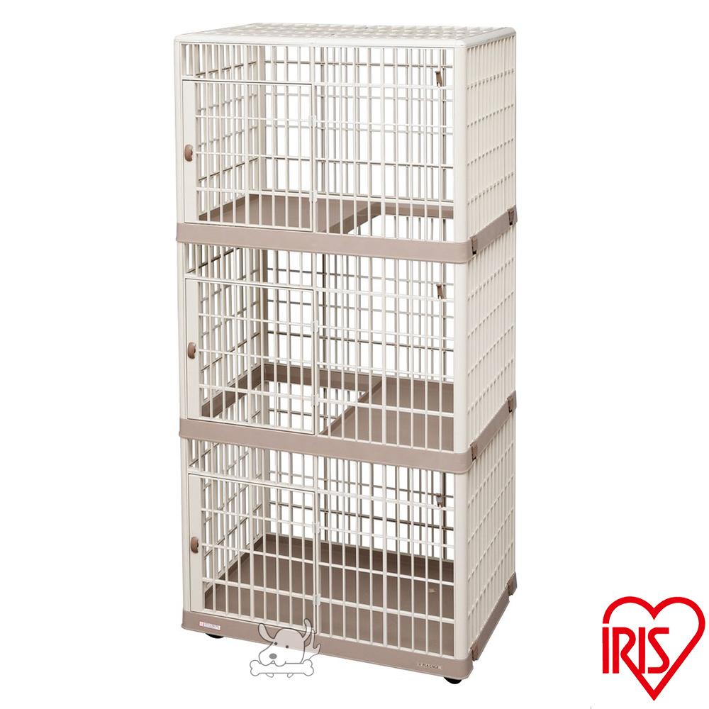 IRIS 日本 移動式 精緻塑鋼三層貓籠(IR-813)