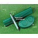 ARTEX life歡樂文具3件組(筆+筆盒+收納小盒)-綠