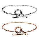 COACH 時尚流行T扣雙圈手環(兩色)