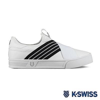 K-SWISS Court Lite Elastic時尚運動鞋-女-白/黑