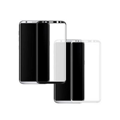【MK馬克】Samsung S8 全滿版9H鋼化玻璃貼保護膜-黑色