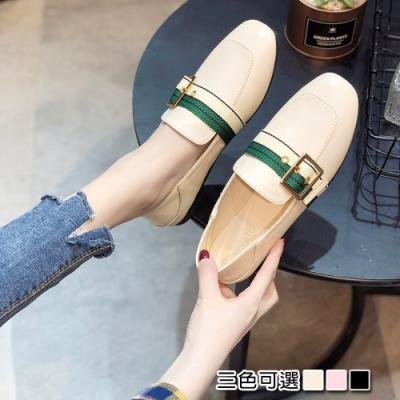 KEITH-WILL時尚鞋館追加款時尚休閒百搭方頭樂福鞋