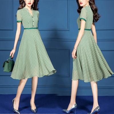 【韓國K.W.】好評加碼率性格調短袖洋裝