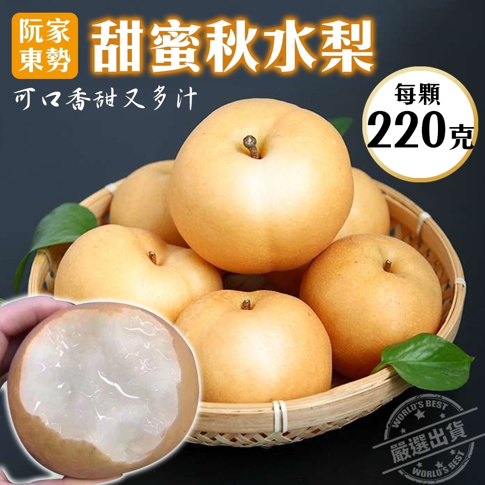 【天天果園】阮家東勢秋水梨禮盒12顆(每顆約220g)