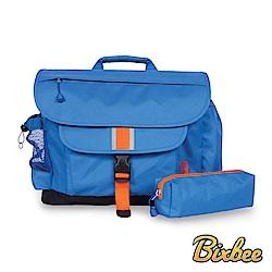 美國Bixbee - 經典系列深海藍大童輕量舒壓背書包筆袋超值組