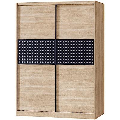 文創集 克利梭5尺衣櫃(二色+吊衣桿+抽屜+穿衣鏡)-151x60x197cm免組