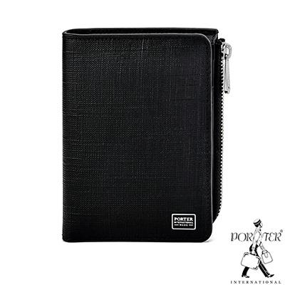 PORTER - 高貴風尚LOFTY直式零錢短夾 - 黑