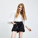 Hana+花木馬 光澤空氣感燈籠口袋造型短褲-黑(2色)