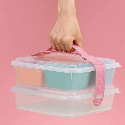 日本製造INOMATA手提式雙層野餐盒