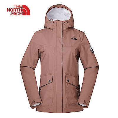 The North Face北面女款裸粉色防水透氣衝鋒衣|3V498NU
