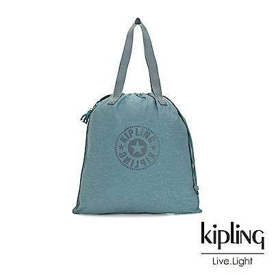 Kipling 冰霜綠束口抽繩手提袋-NEW HIPHURRAY