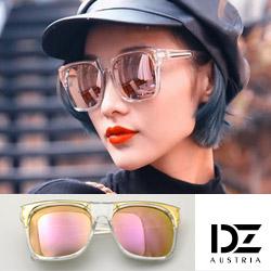 DZ 明星街頭 防曬抗UV太陽眼鏡造型墨鏡(透框金粉膜)