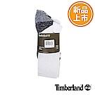 Timberland 男款白色排汗休閒半筒襪(3入組)