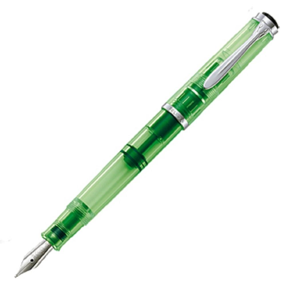 德國PELIKAN百利金 M205 DUO Shiny Green 鋼筆 BB特粗尖