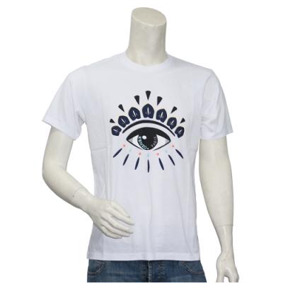 KENZO 眼睛標誌印花圓領衫(白)
