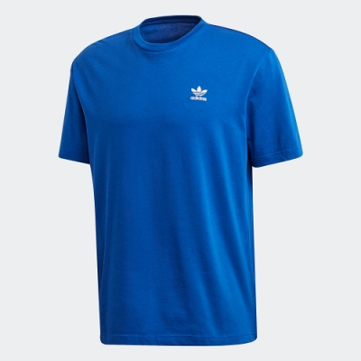 adidas 短袖上衣 運動 訓練 休閒 男款 寶藍 GF0225 TREFOIL BOXY TEE WITH FRONT AND BACK PRINT