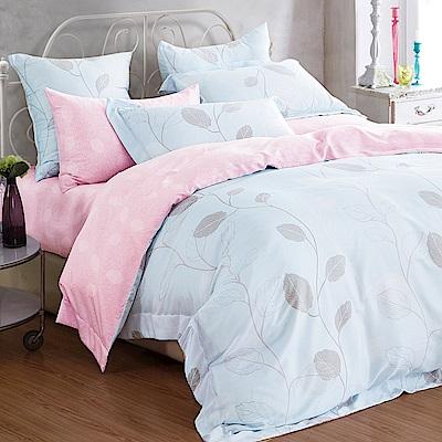 Ania Casa 俏皮青春-藍 原廠天絲 採用3M吸溼排汗專利 加大鋪棉兩用被床包組