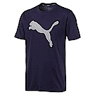 PUMA-男性基本系列P48 Modern Sports短袖T恤-重深藍-亞規