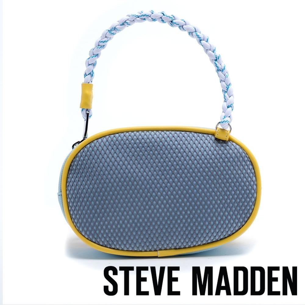 STEVE MADDEN-W-LEDGE 潮流玩味撞色橢圓斜垮/腰包-特殊紋藍色