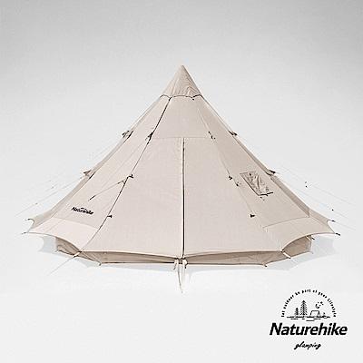 Naturehike 朗 輕奢風戶外帶煙囪口12人大型棉布金字塔帳篷12.3 Glamping系列