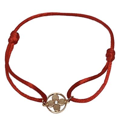 LV Q95586經典IDYLLE BLOSSOM系列18K金鑽石手環(紅)