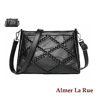 Aimer La Rue 格維娜編織羊皮側背斜背包(兩款)