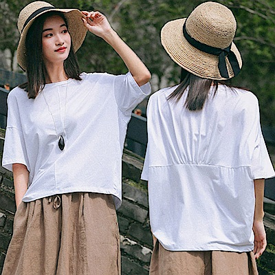 T恤-舒適純棉短袖白色背部設計/設計所在 T8728