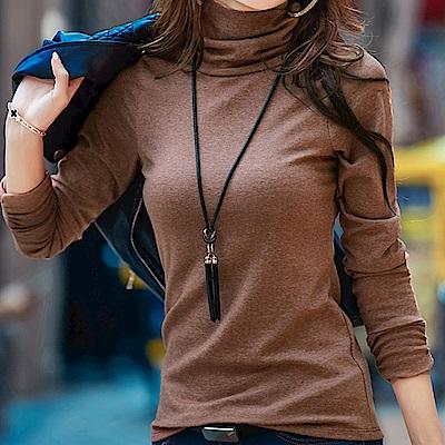 Lockers 木櫃 高領套頭純棉修身打底衫(五色)