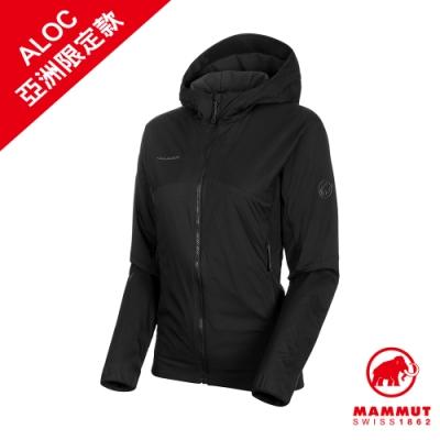 【Mammut 長毛象】Rime Light IN Flex Hooded Jacket AF 保暖連帽化纖外套 黑色 女款 #1013-01310